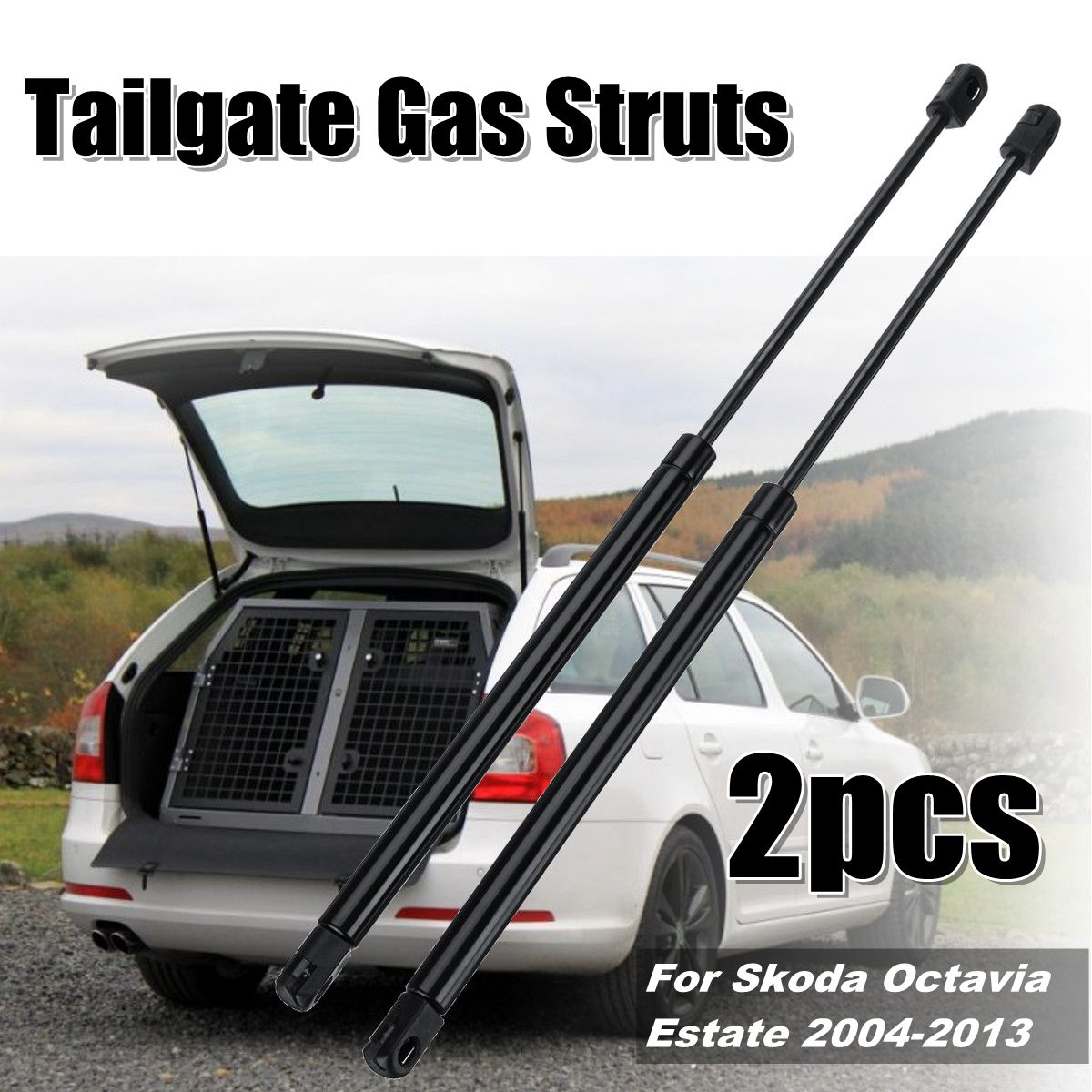 1999-2004 GAS TAILGATE BOOT SUPPORT STRUTS 2X FOR FORD FOCUS ESTATE