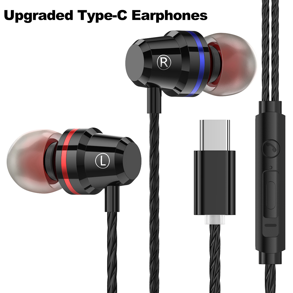 Wired earphone In-Ear Earphones Type-C Interface Line Control earphone With Mic for MI 6  Note 3  MIX 2 for LE 2  3 Series