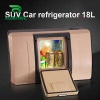 Refrigerador de carro de controle remoto sem fio de 12 v/24 v dc 18l multi função geladeira suv compressor específico refrigerador congelador fresco|Geladeiras| |  -