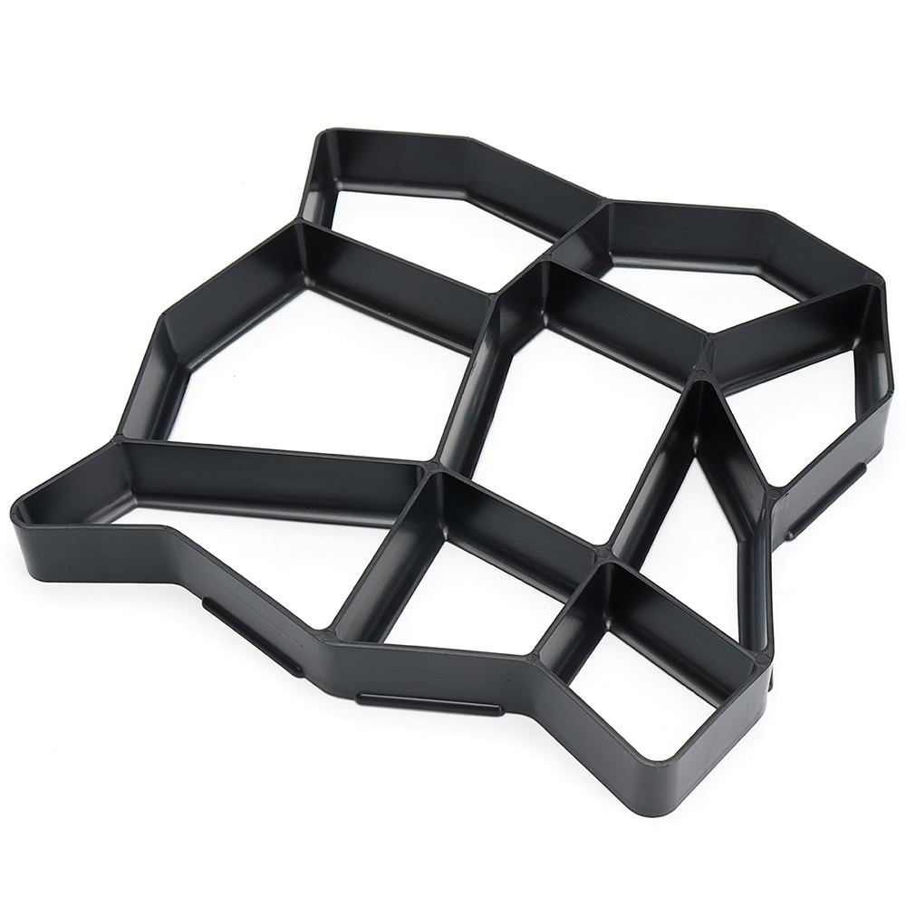 36*36 cm Tuinpad Maker Vorm Onregelmatige Model Beton Stepping Stone Cement Mal Baksteen DIY Huis Tuin Gereedschap 4