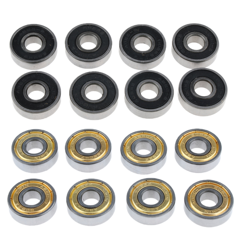 MagiDeal 8pcs Chrome Steel Skateboard Bearings Longboard Skate Ball Bearing Longboard Roller Inline Skate Ball Bearings