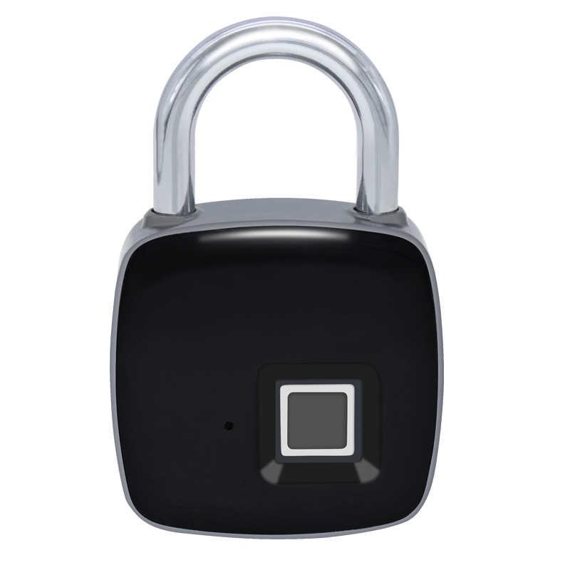 Cadenas d'empreinte digitale serrure d'empreinte digitale intelligente IP65 étanche à la poussière conception sans clé Anti-vol cadenas valise serrure de porte