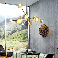 Modern Chandelier Luxurious Lustre Large Led Round Chandeliers Loft Restaurant Cord Suspension Lamps Hanging Lamparas