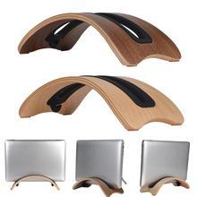 Samdi Wooden Vertical Desktop Laptop Stand Holder Bracket Dock for Macbook Air new original samdi heat dissipation luxury fashion wooden stand for macbook air pro wood laptop lapdesks holder