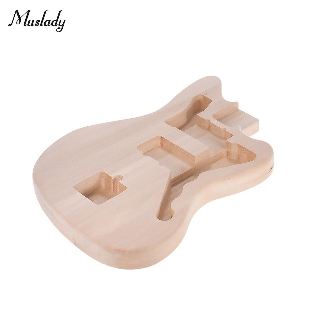 Muslady bricolage guitare électrique corps inachevé guitare baril blanc Basswood guitare corps pièces de rechange pour Mustang Guitarra