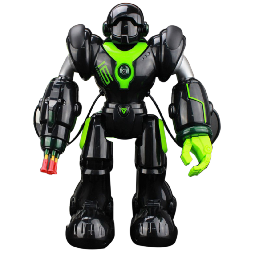 2019 New RC Machinery Robot Toys With Programming Shooting Dancing Battle Functions For Children   Black/White