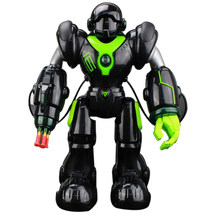 2019 New RC Machinery Robot Toys With Programming Shooting Dancing Battle Functions For Children - Black/White(China)