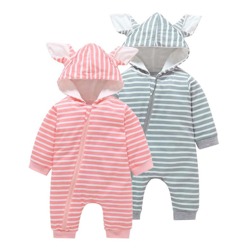 Huhua Newborn Baby Girls Boys Rompers Jumpsuit Set Outfit Clothes