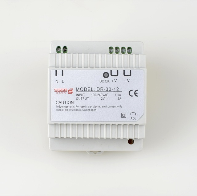 DR 30 12  Din rail Single Output Switching power supply  30W 12V 2A ac dc converterconverter usbconverter videoconverter torque