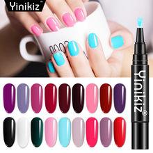 Yinikiz 1 шт гель 3 в Гель лак для ногтей ручка блестящая искусственная