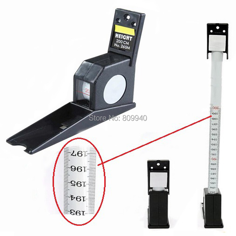 200cm Two Colors Wall Mounted Height Rod Meter Stadiometers Growth Ruler Chart
