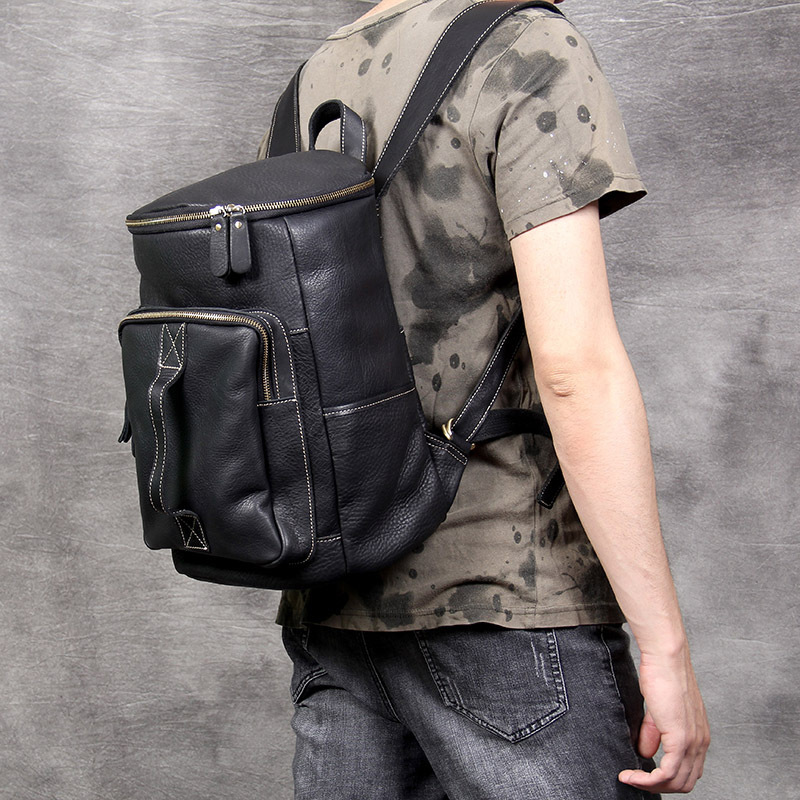 Handmade Leather mens shoulder bag head layer leather backpack fashion trend Crazy Horse bag business Laptop computer bagHandmade Leather mens shoulder bag head layer leather backpack fashion trend Crazy Horse bag business Laptop computer bag