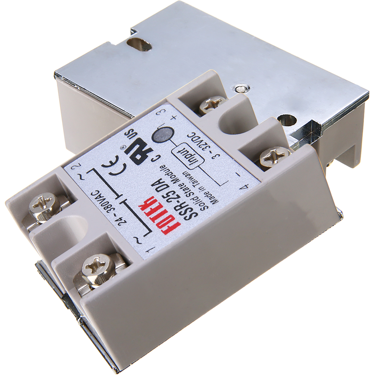 24V-380V 25A SSR-25AA Solid State Relay Module 80-250VAC AC-AC RS