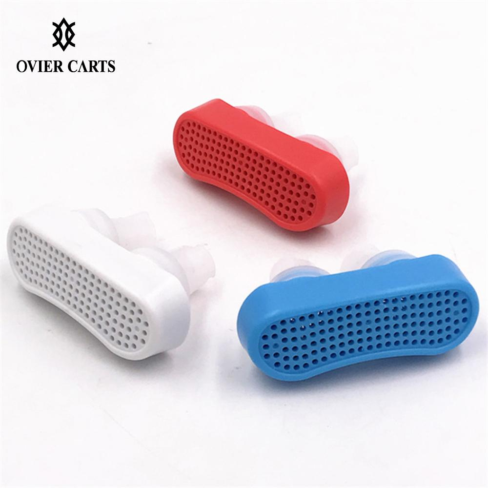 Silicone Anti Snoring Clip Anti-smog Relieve Snore Stopper Guard Nasal Dilator Easy Sleeping Breath Aid Health Care 2 Models