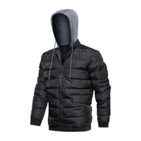 5XL Large Size Warm Cotton Padded Hooded Coat Winter Men Outdoor Sports Fishing Climbing Camping Thermal Thicken Tactical Jacket|Hiking Jackets|   -