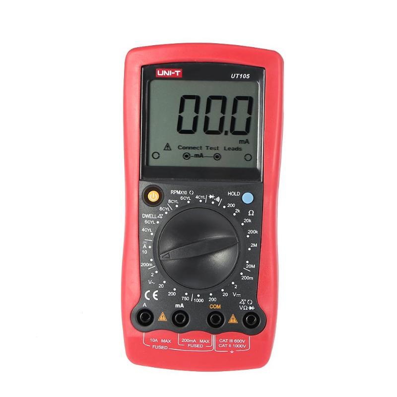 UNI-T UT105 automobile voiture compteur LCD portable numérique multimètre AC DC voltmètre testeur de courant tension Instrument