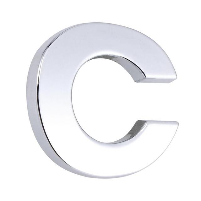 1pc letter c car sticker fashion diy stylish silver