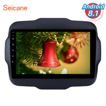 "Seicane 9 ""Android 8,1 2Din coche GPS Radio para Jeep 2016 renegado reproductor Multimedia con USB Bluetooth WIFI 1080P Aux(China)"