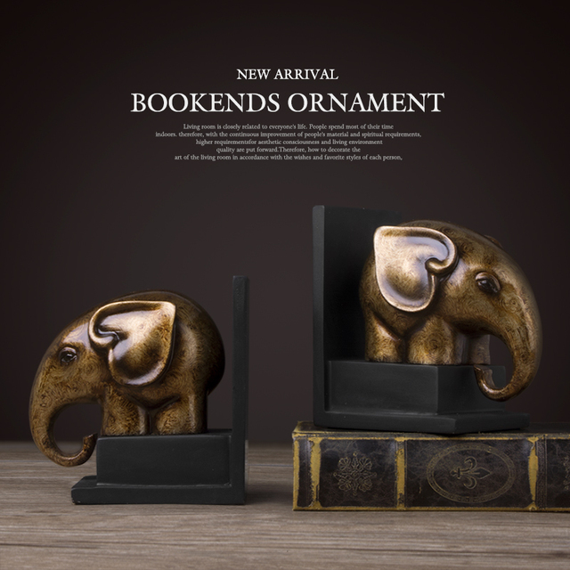 Bookends horse and elephant Vintage