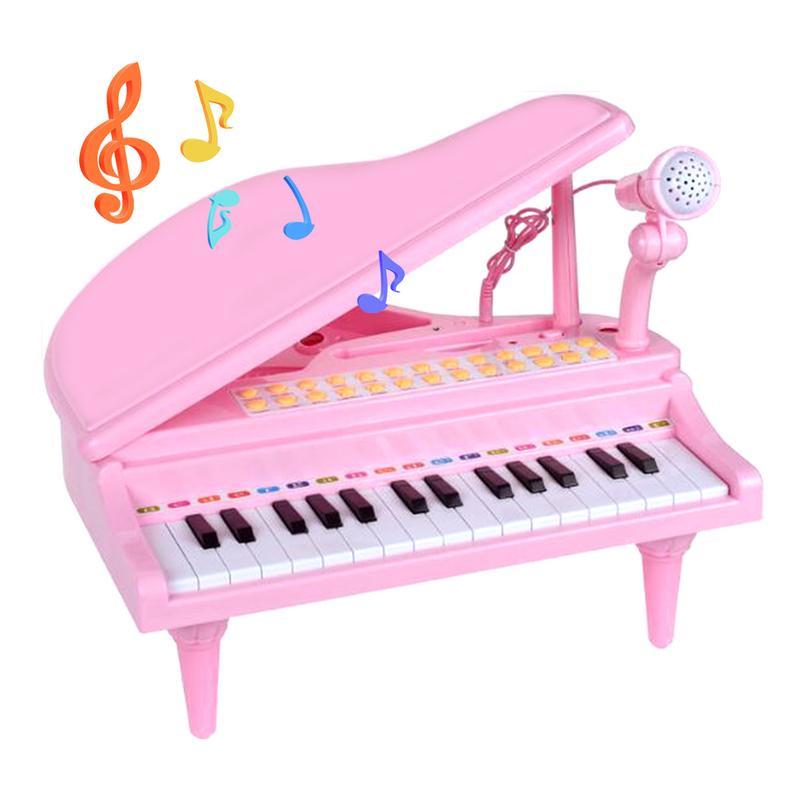 Infantile jouant éducatif électronique Piano bébé jouets enfants clavier garçons filles doigts enfants musique 37 clés cadeau en plastique mignon