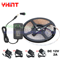 1 set 5 meters SMD3528 DC12V 2A IP20 Non Waterproof Single color Red,Green,Blue,Yellow,White,Warm white 60 LED/M LED strip