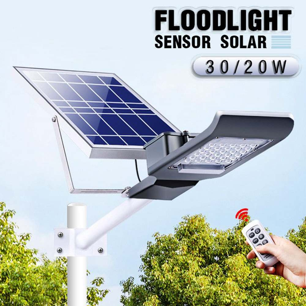 Waterproof  20W 20 LED Solar Light with Long Rod+Light/Remote Control Street Light Wall Lamp for Outdoor Garden Yard Path HomeWaterproof  20W 20 LED Solar Light with Long Rod+Light/Remote Control Street Light Wall Lamp for Outdoor Garden Yard Path Home
