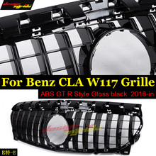 Fits For MercedesMB W117 GTS Grille grill sport ABS Gloss Black CLA-Class CLA200 CLA180 CLA250 Without sign Front Grills 2016-in