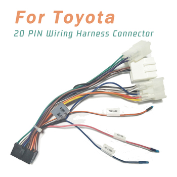 20 PIN Wiring Harness Connector Adapter 1din or 2din Android Power Cable Harness Suitable for Toyota 12v 24v relay harness control cable for h4 hi lo hid bulbs wiring controller