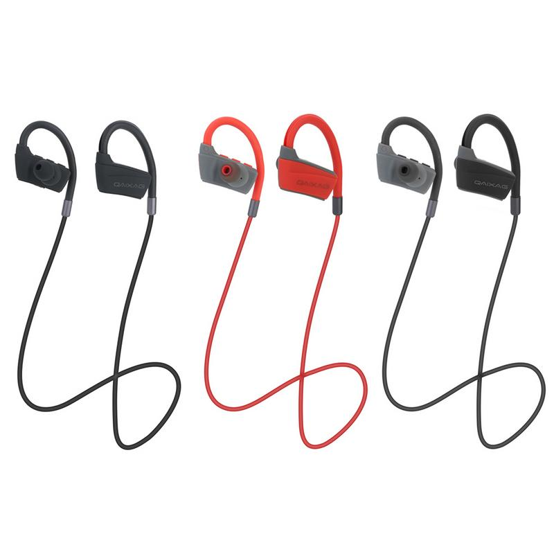 Bluetooth 4.2 Ear Hanging Earphone True Stereo Sports Bluetooth Headset Neckband Type Headphone 1PC image