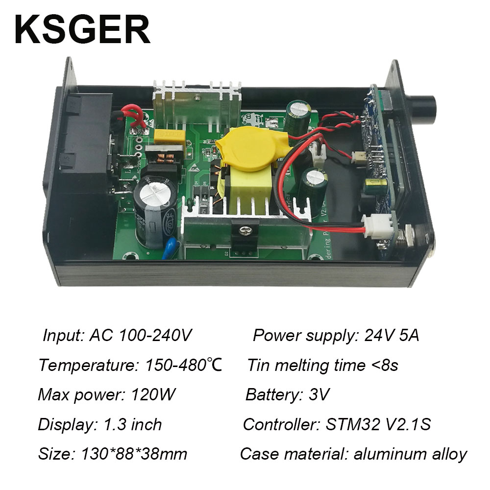 Image 5 - KSGER STM32 2.1S OLED DIY T12 Soldering Iron Station FX9501 Alloy Handle Electric Tools Temperature Controller Holder WeldingElectric Soldering Irons   - AliExpress