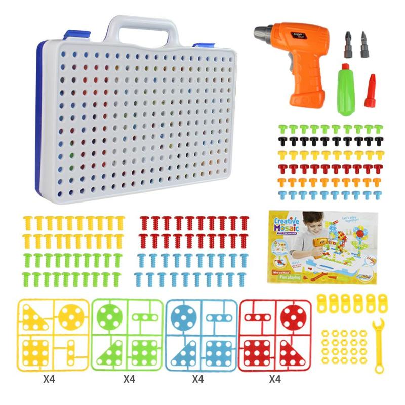 240pcs Children Electric Drill Nut Puzzle Disassembly Assembled Block Plastic Jigsaw Building Toy Drill Puzzle Educational Toys240pcs Children Electric Drill Nut Puzzle Disassembly Assembled Block Plastic Jigsaw Building Toy Drill Puzzle Educational Toys