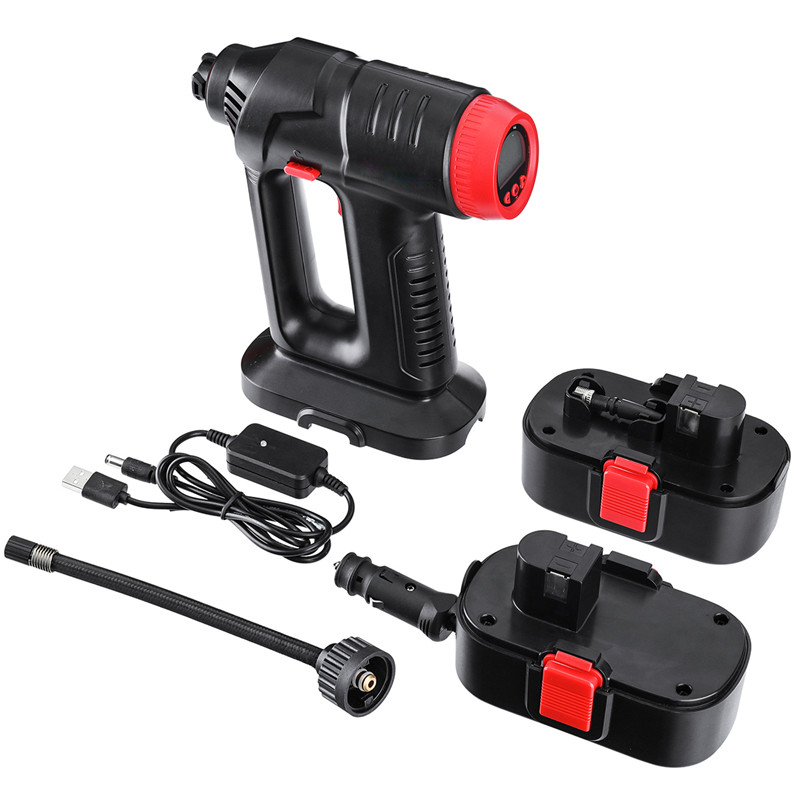 12V 130PSI Cordless Car Tyre Inflator Handheld Air Pump LCD Digital with Rechargeable Li io Battery