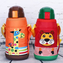 Creative Cartoon Pattern Children Kids Water Bottle Useful Animals Insulation Stainless Steel Portable Vaccum Thermal