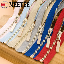 2pcs Meetee 3# Metal Open End Zippers 40/70cm Gold Teeth Long Zip Closure for Sewing Bags Down Jacket Skirt Clothing Accessories(China)