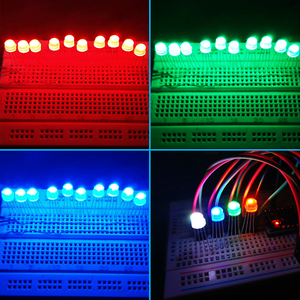Image 5 - 5 1000pcs DC5V Diffused Round hat RGB LED with WS2811 5mm F5 8mm F8 pixels Arduino led chips RGB full color addressable LEDs
