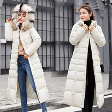 Try Everything Long Coat Women Winter Hooded White Jacket 2019 Plus Size Parkas Jackets For