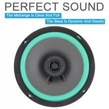 1pcs 6.5 Inch 167 mm 80W 88dB 2 Way Car Coaxial Speaker 12V