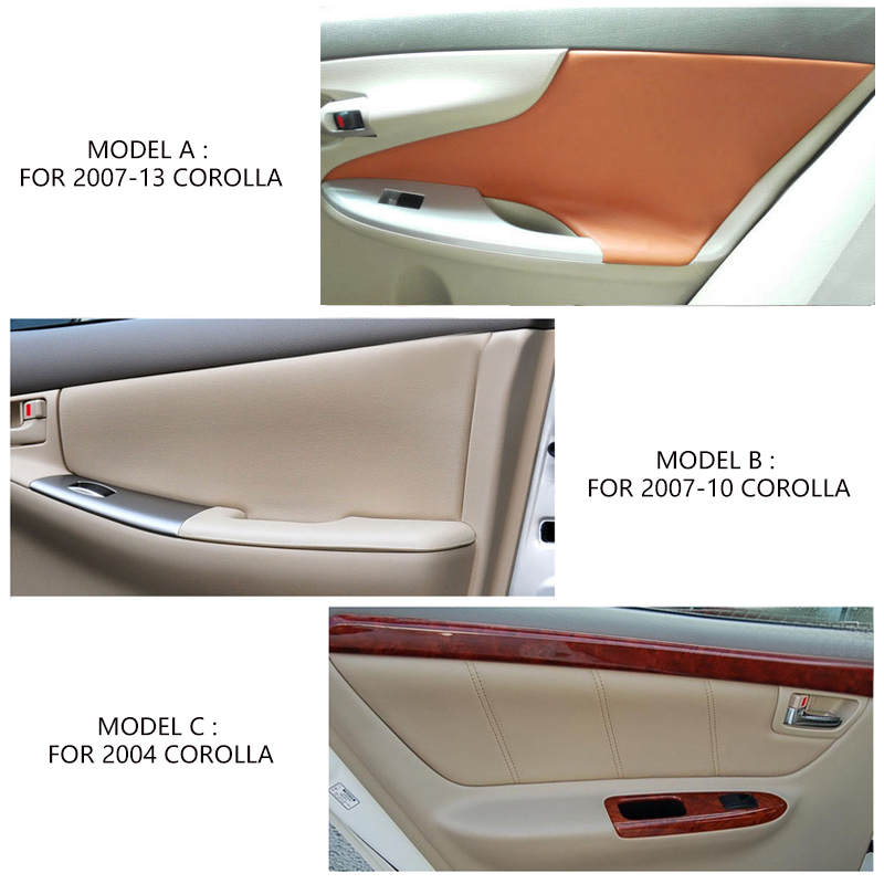 Image 5 - Microfiber Leather Interior Car Styling Door Panel Covers Trim For Toyota Corolla 2007 2008 2009 2010 2011 2012 2013-in Interior Mouldings from Automobiles & Motorcycles