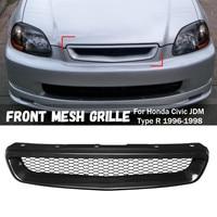 Car black Front Hood Mesh Bumper Grille for Honda /Civic /JDM Type R 1996 1997 1998 Racing Grills
