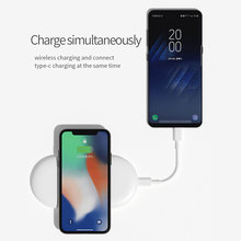 WIWU 2 in 1 Wireless Charger for iPhone X Xs MAX XR 8 plus and 5000 mAh Power Bank Quick Charging External Battery PowerBank