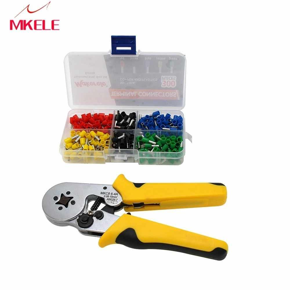 New Multiple combination strippers DQC,HMC8 6-6 Self-adjustable Crimping Tool Connector Pliers Wire Crimping Tool Terminal Crimp