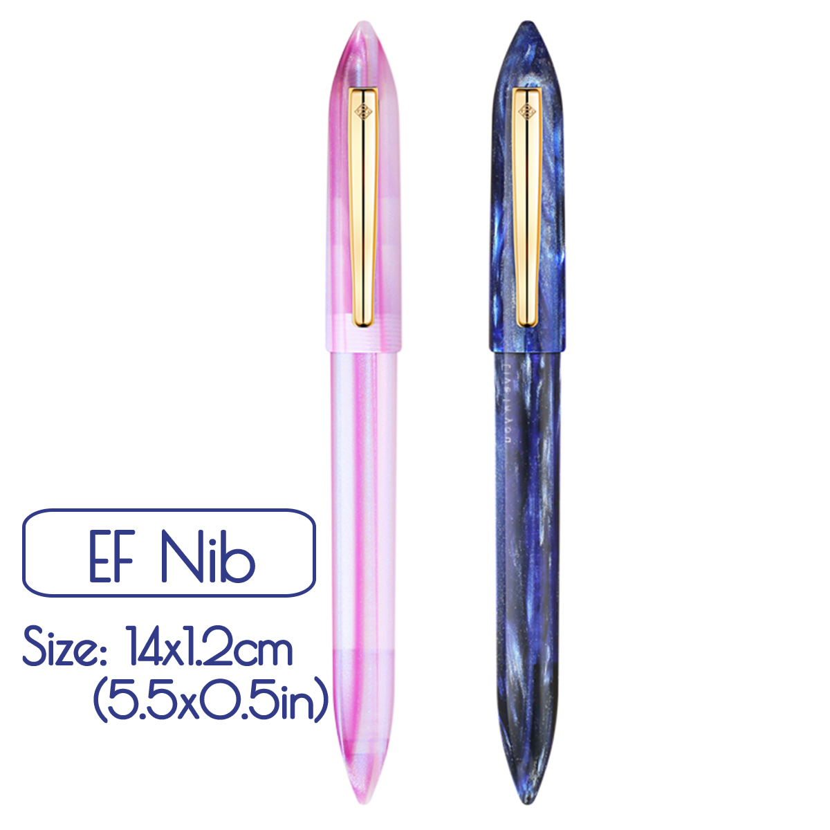 KICUTE EF Nib Fountain Pen Business Resin Fine Pen For Christmas Gift Wedding Signing School Office Supplies with Original BoxKICUTE EF Nib Fountain Pen Business Resin Fine Pen For Christmas Gift Wedding Signing School Office Supplies with Original Box