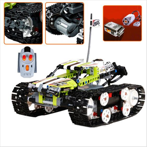 CX Compatible <font><b>Lego</b></font> with <font><b>42065</b></font> 20033 452pcs RC Track Remote-control Race Car building blocks Bricks figure toys for children image