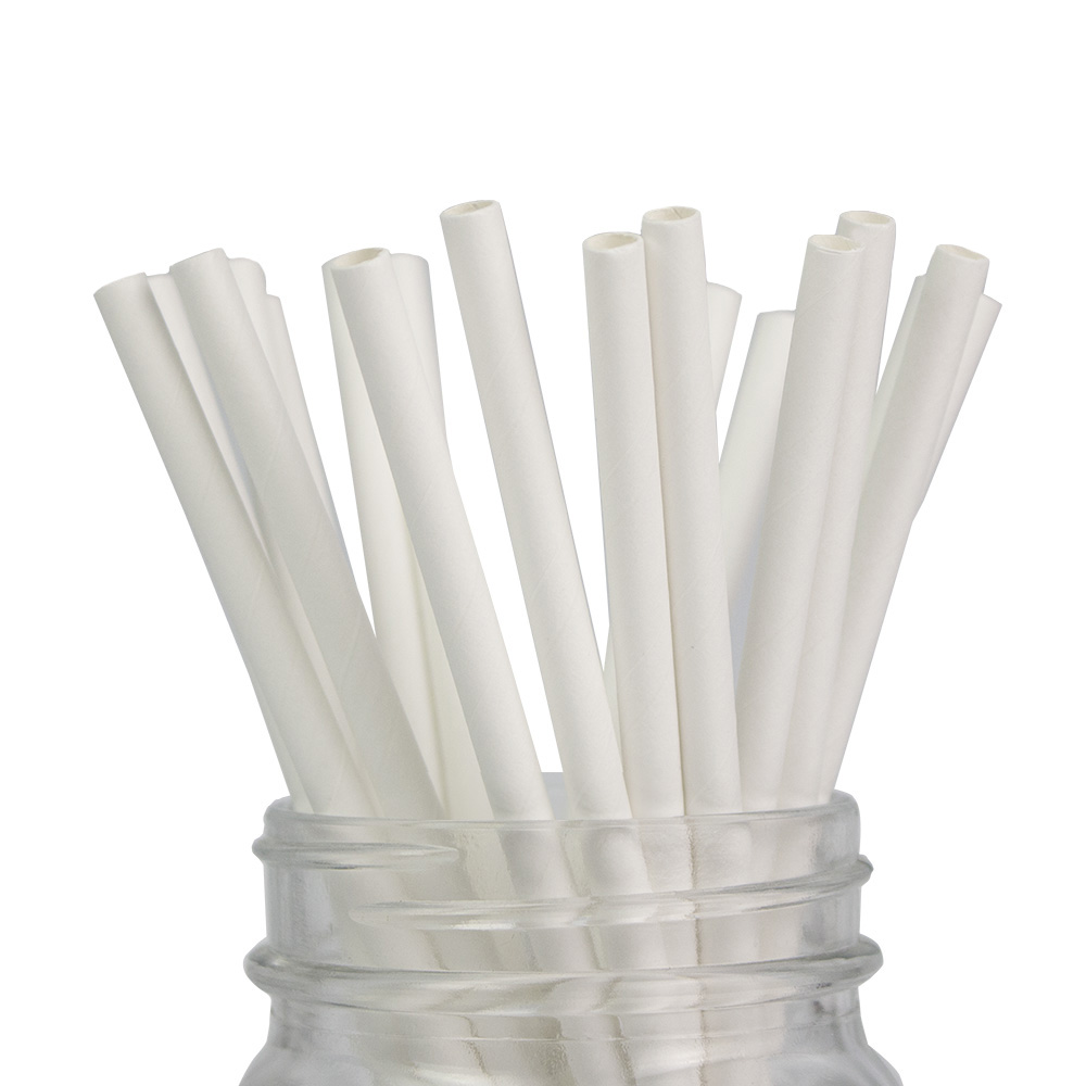 Free Shipping 10000pcs Solid White Color Paper Straw Wedding Decoration Baby Shower Garden Party
