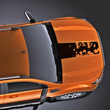 free shipping 4X4 off road ink marks cool hood bonnet Gradient side stripe graphic Vinyl car sticker for Ford ranger