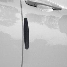 4PCS Car Carbon Fiber Body Bumper Strip Car Universal Bumper Bumper Strip Door Bumper Strip Scratch-Resistant Strip цена
