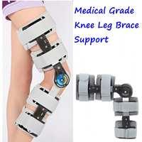 Black/Gray Medical Grade 0 120 Degree Adjustable Hinged Knee Leg Brace Support Protect Knee Ankle Brace Ligament Damage Repair