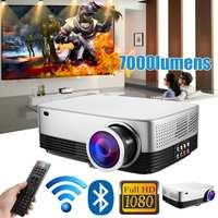 Портативный ЖК дисплей проектор домашний кинотеатр театральный фильм Wi Fi bluetooth СВЕТОДИОДНЫЙ Proyector HD мини проекторы Поддержка 1080 P 7000 люмен