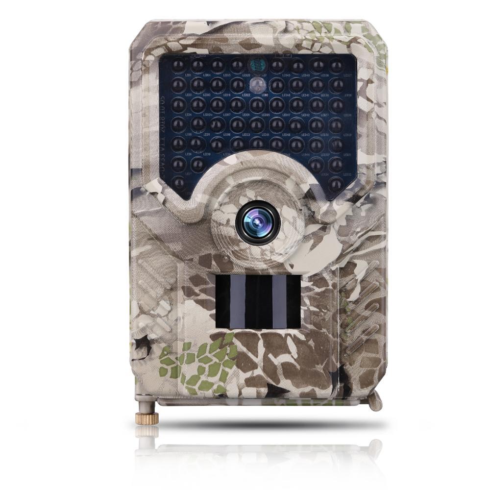 12MP HD Camouflage Caméra Numérique avec 49 pièces IR LED PIR Capteur De Mouvement Fonctionner sur 2 pièces 18650 Batteries ou DC5V Solaire IP56