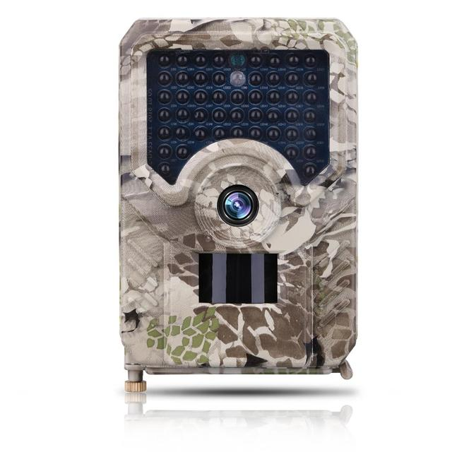 12MP HD Camouflage Digital Trail Camera with 49pcs IR LED PIR Motion Sensor Run on 2pcs 18650 Batteries or DC5V Solar Power IP56